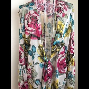 Band of Gypsies Floral Kimono Duster Size Large